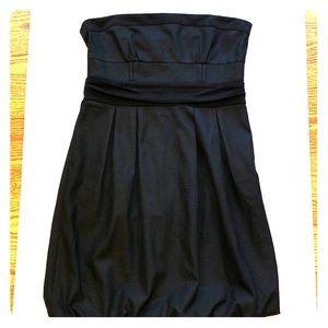 DIANE VON FURSTENBERG Strapless Black Dress Sz 12